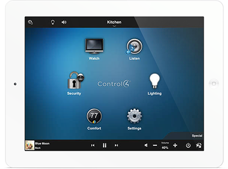 Ipad with connected home interface